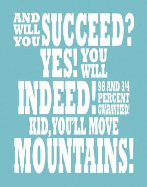Dr Seuss Quote Motivational Art Print 11 x 14 by breedingfancy, $24.00