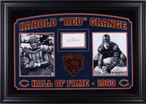 Red Grange Chicago Bears Deluxe Horizontal Framed Collectible with 2.5 ...