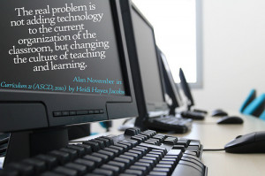 The real problem is not adding technology to the current organization ...