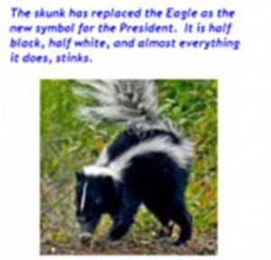 ... stinks': Racism row erupts as Tea Party calls Barack Obama a skunk