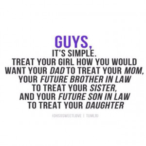 How to treat a woman= what to teach our sons early!