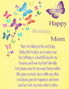 ... Mom by Karen Cook Happy Birthdays, Happi Birthday, Happy Birthday Mom