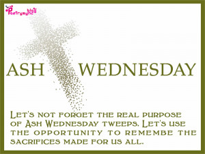 Ash Wednesday Quotes with Wishes Pictures