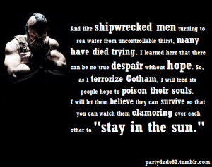 ... the dark knight rises bane quotes i12 Batman Quotes Dark Knight Rises