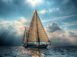 1600x1200 Beautiful sail boat desktop PC and Mac wallpaper