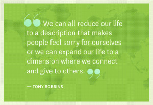 We can all reduce our life to a description that makes people feel ...