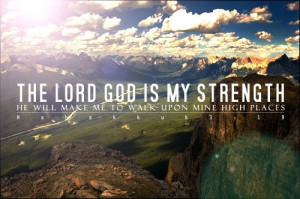 Myspace Graphics > God Quotes > the lord god is my strength Graphic