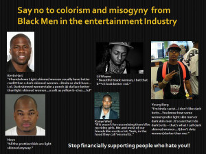 Male artists and colorism