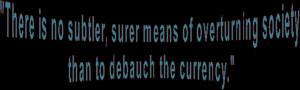 Capitalism Currency Gold Inflation John Maynard Keynes Just Thinking ...