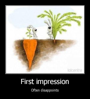First impression....