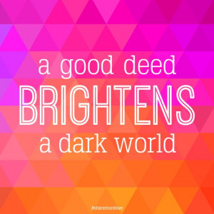 Help brighten up with the world!