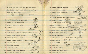 Woody Guthrie's New Year's Resolutions 1942