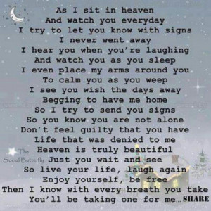 poem for loss of a loved one. So sweet.Every breth I take, I take ...