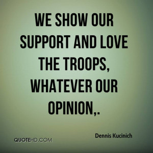 Love Support Quotes we Show Our Support And Love