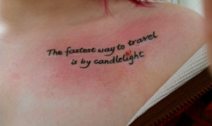 My second tattoo, a quote from Stardust by Neil Gaiman ;D