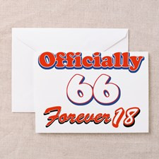 66 year old birthday designs Greeting Card for