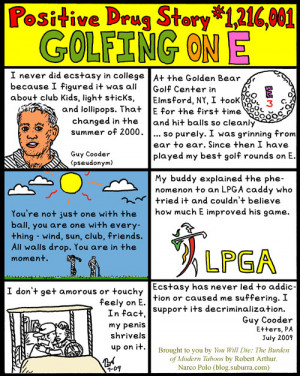 "Comments on ""Positive Drug Story #1,216,001: Golfing on E"""