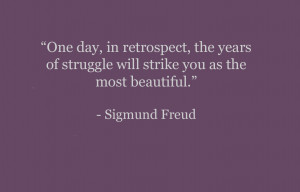 Sigmund Freud quote about thinking positive