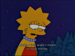 friends, lisa, quote, simpson, simpsons, text
