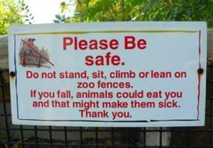 Random Funny Zoo Signs