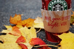 autumn, beautiful, coffee, leaves, photography, picture, starbucks ...