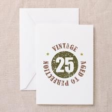 25th Vintage birthday Greeting Card for