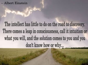 The intellect has little to do on the road to discovery.