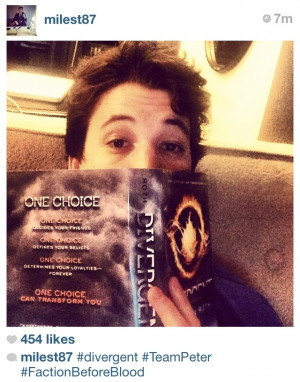Miles Teller doing his research!