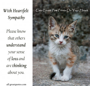 With Heartfelt Sympathy – Loss Of A Cat