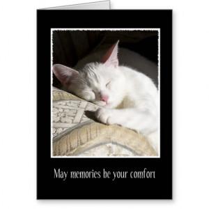 Cat Sympathy Loss of Pet Card - $3.30