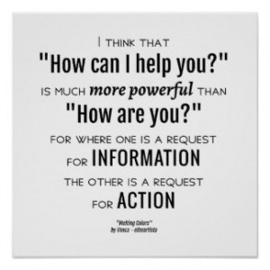 How can I help you - quote Print