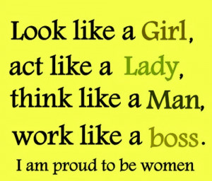 Am Proud to Be a Woman.....