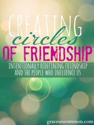 Creating circles of friendship