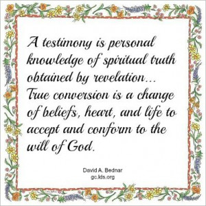 True Conversion | Creative LDS Quotes