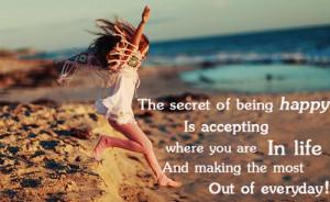 beach child happiness secret motivational quotes 14 Motivational ...