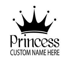 result for Huge Princess Crown Tiara Custom Name Wall Decal