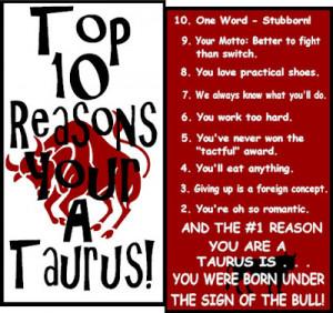 Taurus short Personality