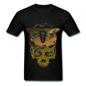 Round Neck TeeshirtBoy natural dead skull Funny Quotes Tee Shirts for ...