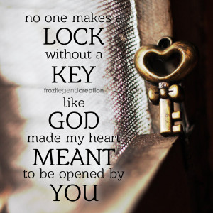 Love Lock And Key Lock and key - key version by