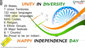 Unity in Diversity Greatness of India Messages quotes on indian ...