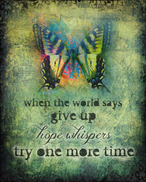 HOPE WHISPERS inspirational encouraging art print, Swallowtail ...