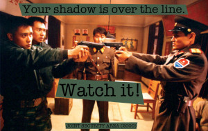 Quote from Joint Security Area (2000) — «Your shadow is over the ...