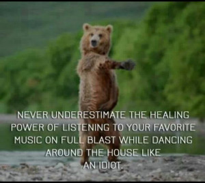 Never underestimate the healing power of dancing.