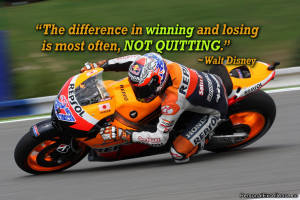 "Inspirational Quote: ""The difference in winning and losing is most ..."