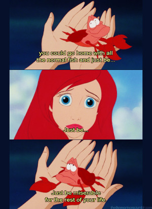 Sad Ariel Doesn't Want To Go Home & Be Miserable For The Rest Of Her ...