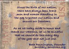 ... Quotes   Veterans Day - Military Missions Inc - Supporting Military
