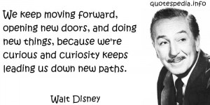 Walt Disney Quotes - Pics For > Walt Disney Quote Keep Moving Forward