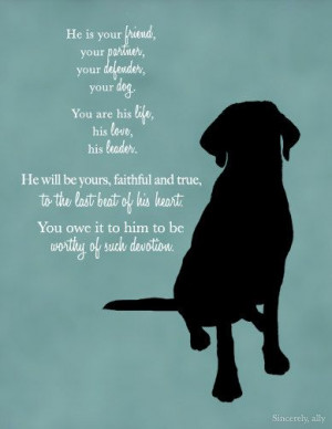 Custom Dog Quote Wall Art Print - Dog Quote - Pet Quotes - Labrador ...