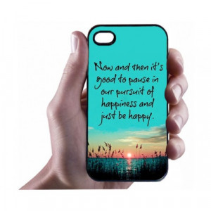 ... » Happiness Quotes iPhone 4/4s Case - Hard Plastic Cell Phone Case