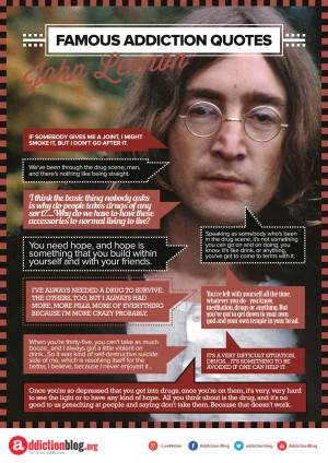 John Lennon quotes about drugs (INFOGRAPHIC) | Addiction Blog